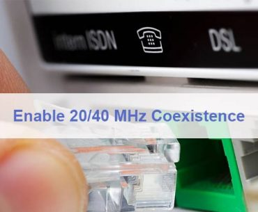 Enable 20/40 MHz Coexistence